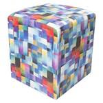 Puff Decorativo Dado Quadrado Estampado Mosaico D09 - D'Rossi