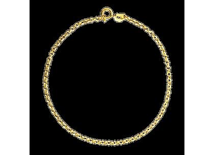 Pulseira Portuguesa Fina 16cm com 0,59grs Ouro Amarelo