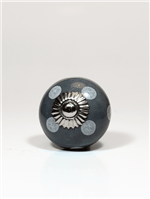 Puxador de Ceramica Dots Cinza