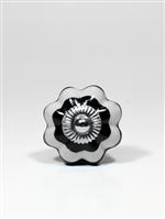 Puxador de Ceramica Lotus Preto