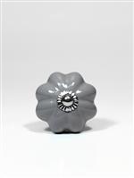 Puxador de Ceramica Melon Daisy Gray