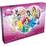 Puzzle Coração de Princesas - 80 Peças - Grow