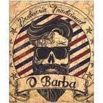 Quadro Cartão Papel Mdf - Barber Shop (sort)