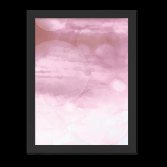 Quadro Cloud Rose Moldura Preta Lisa - 30x20 Cm-sv