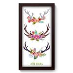 Quadro com Moldura - 19x34 - Deer Horns - N3108