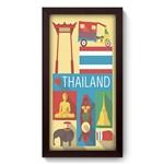 Quadro com Moldura - 19x34 - Tailândia - N3246