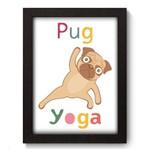 Quadro com Moldura - 19x25 - Yoga Pug - N3055