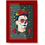 Quadro com Moldura em Madeira e Vidro Face Frida Kahlo Urban