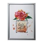 Quadro com Moldura Vase And Flower Vermelho Urban