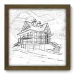 Quadro com Moldura - 33x33 - Arquitetura - N2118