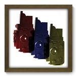Quadro com Moldura - 33x33 - Color - N2059