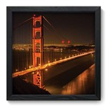 Quadro com Moldura - 33x33 - Golden Gate Bridge - N3027