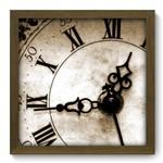 Quadro com Moldura - 33x33 - Relógio - N2009