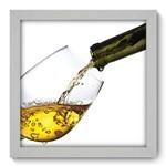 Quadro com Moldura - 22x22 - Taça de Vinho - N1066