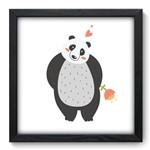 Quadro com Moldura - 33x33 - Urso Panda - N3150