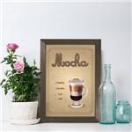 Quadro Cozinha Café Mocha 22x32cm Moldura Marrom