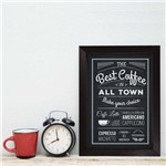 Quadro Cozinha e Bar Café Best Coffee 22x32cm Moldura Preta