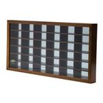 Quadro de Madeira com Espelho para 36 Carrinhos Naturals 66,5x33,5x5,5cm