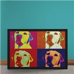 Quadro Decorativo Andy Warhol Pop Art Cachorro Labrador