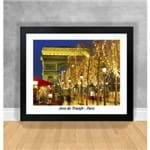 Quadro Decorativo Arco do Triunfo - Paris Paris 35 Preta