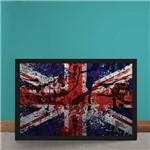 Quadro Decorativo Bandeira da Inglaterra Desconstruida