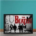 Quadro Decorativo Beatles Correndo Logo Vermelho