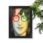 Quadro Decorativo Beatles John Lennon Colors Fundos Coloridos