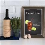 Quadro Decorativo Bebida Cuba Libre 22x32 Moldura Marrom
