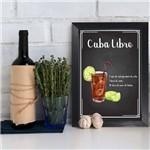 Quadro Decorativo Bebida Cuba Libre 22x32 Moldura Preta