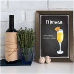 Quadro Decorativo Bebida Mimosa 22x32cm Moldura Marrom