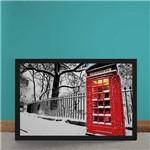Quadro Decorativo Cabine Telefonica Vermelha Londres