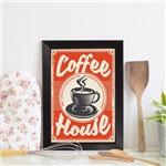 Quadro Decorativo Café Vintage 22x32cm Moldura Preta