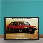 Quadro Decorativo Carro Comercial Volkswagen Gol GT