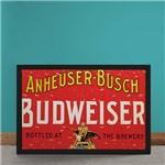 Quadro Decorativo Cerveja Budweiser The Brewery Vintage