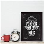 Quadro Decorativo com Moldura Preta Rock Forever 22x32cm