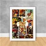 Quadro Decorativo Comic Book Heróis os Vingadores 40 Branca
