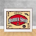 Quadro Decorativo Daily Specials Barber Shop BB 04 Branca 30x40