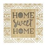 Quadro Decorativo Dourado com Led Sweet Home 24x24cm Urban