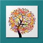Quadro Decorativo em Canvas Árvore Estilizada Colorida