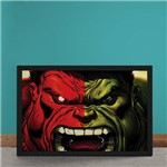 Quadro Decorativo Hulk e Hulk Vermelho Marvel