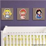 Quadro Decorativo Infantil Trio Princesas