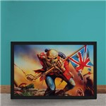 Quadro Decorativo Iron Maiden Ed Hunter Bandeira da Inglaterra