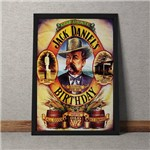 Quadro Decorativo Jack Daniels Bithday Vintage