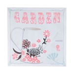 Quadro Decorativo Jardim Garden Rosa Colorida 28 Cm Lona