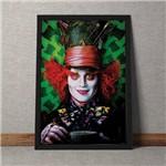 Quadro Decorativo Johnny Depp Chapeleiro Maluco Alice no Pais das Maravilhas