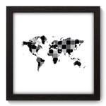 Quadro Decorativo Mapa Mundi N5098 22cm X 22cm