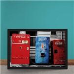 Quadro Decorativo Maquina de Refrigerantes Coca Cola Pepsi