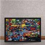 Quadro Decorativo Marvel Versus DC Comics Quadrinhos 25x35