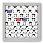 Quadro Decorativo Óculos N1095 22cm X 22cm