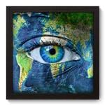 Quadro Decorativo Olho N5050 22cm X 22cm